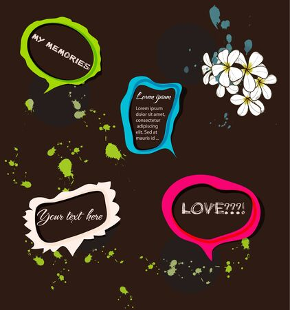Set of bright speech bubbles illustration Stock Vector - 14286087