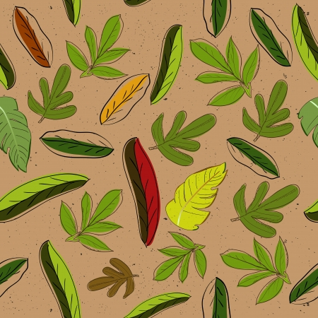 Seamless texture with leaves Stock Vector - 14390223