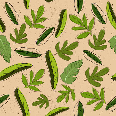 Seamless texture with leaves Stock Vector - 14390222