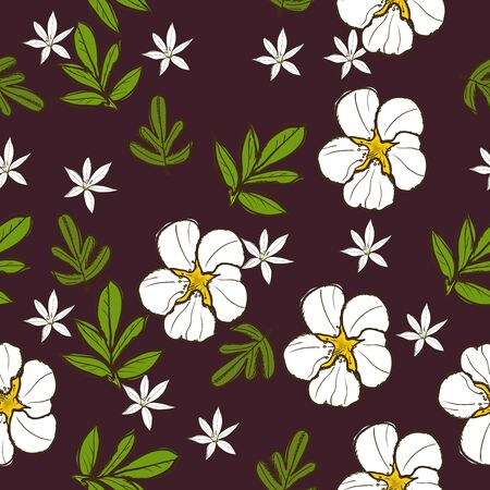 Seamless texture with white flower Stock Vector - 14458718