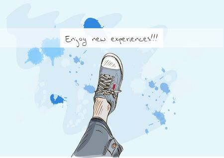 The sneakers and the sky  Vector illustration EPS10 Vector