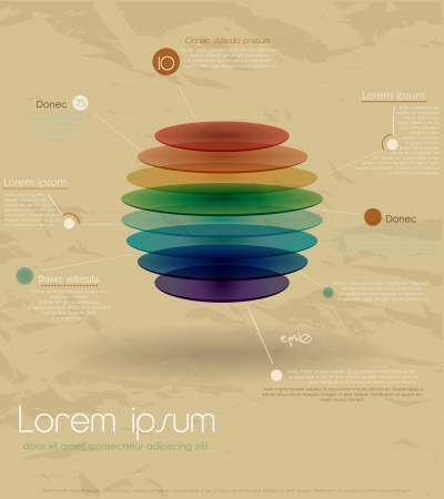 Vintage rainbow infographic template Vector