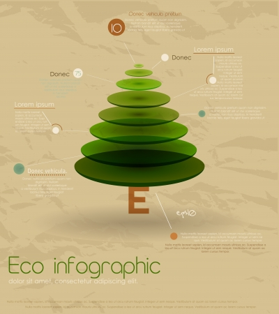 Vintage eco infographic with fir-tree  Vector