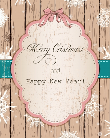 Vintage Christmas card with snowflakes pastel Stock Vector - 16115015