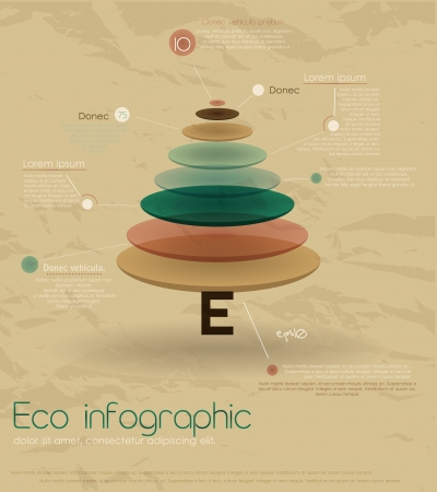 Vintage eco infographic with fir-tree  Vector illustration
