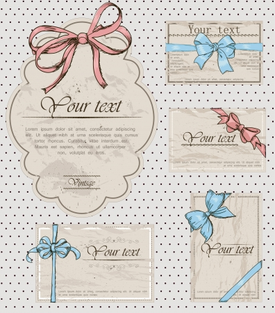 Set of vintage gift bows  Stock Vector - 17589769