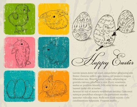 Vintage poster about Easter Stock Vector - 18247621