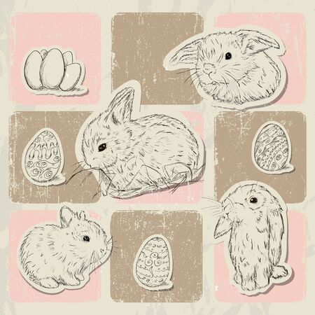 Vintage poster about Easter illustration Stock Vector - 18853067
