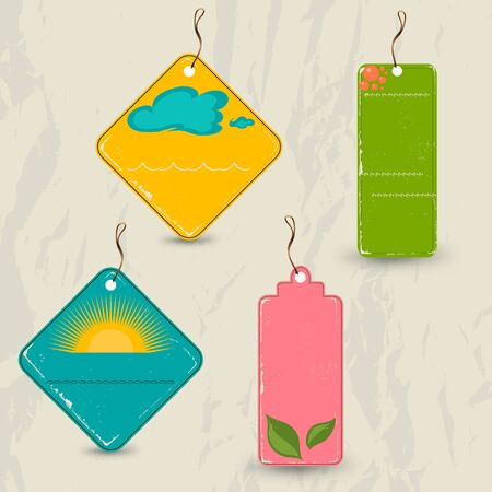 Set of 4 retro summer tags  Vector illustration EPS10 Vector