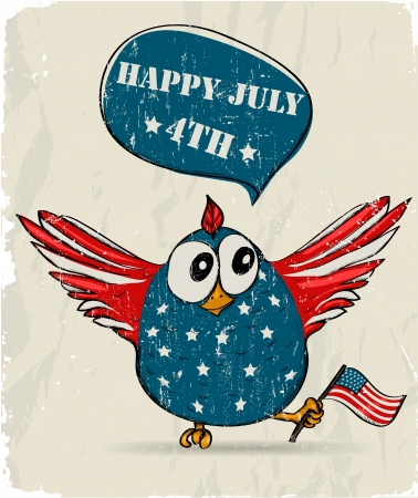Funny patriotic bird  Vector illustration EPS8 Vector