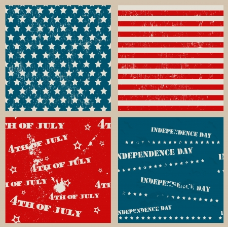 Set of seamless textures with USA Independence Day symbols  Vector illustration EPS8 Stock Vector - 20107169