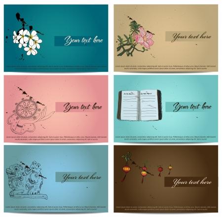 vintage business cards set. Stock Vector - 20407999