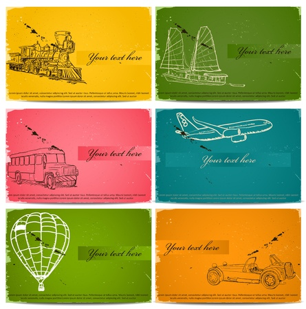 reise retro: vintage Visitenkarten.