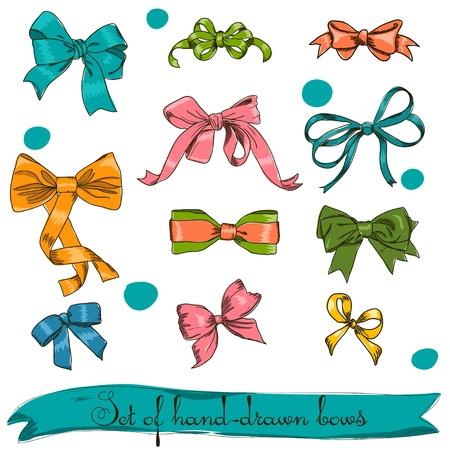 set of vintage bows.