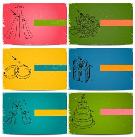 invitacion boda vintage: Tarjetas de invitaci�n de la boda vintage creado. Vectores