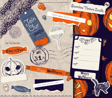 Vintage Halloween scrapbooking set photo