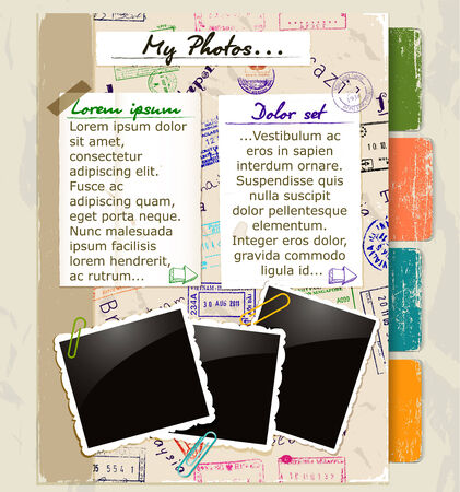web sites: Website template with vintage elements Stock Photo