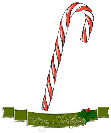 candycane: Christmas candy. Vector illustration EPS8 Stock Photo
