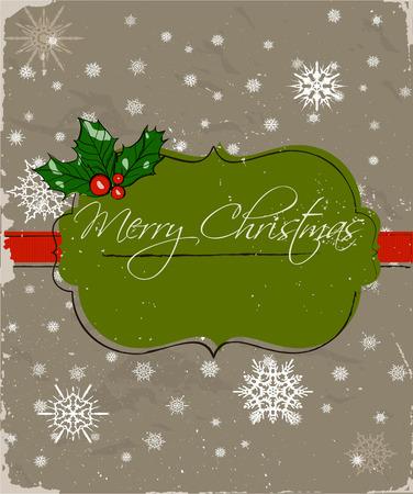 x mas: Christmas card