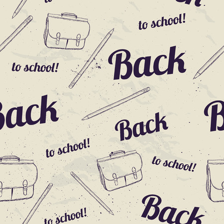 Back to school seamless pattern photo
