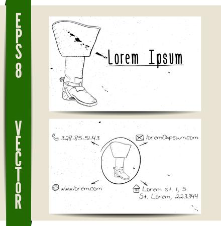 mosquetero: Plantilla de tarjeta de visita simple. Ilustración vectorial EPS8. Vectores