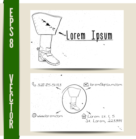 shoe repair: Simple business card template. EPS8 vector illustration.