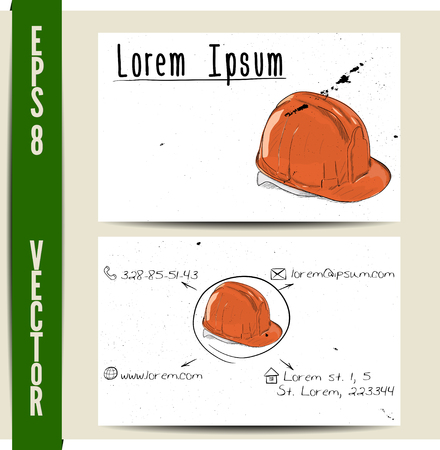 Simple business card template. EPS8 vector illustration.