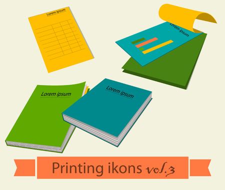 copying: Print icons set. EPS 10 vector illustration Illustration