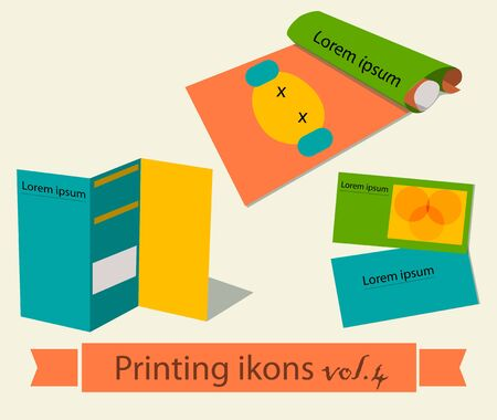 printing business: Print icons set. EPS 10 vector illustration Illustration