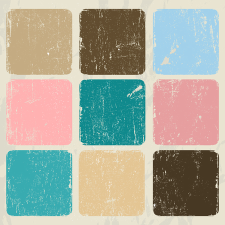 vintage colors: Abstract vintage poster pastel colors. Vector illustration EPS8 Illustration