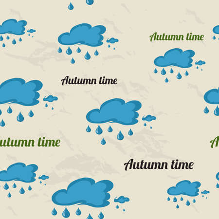 savory: Seamless pattern with autumn elements. Vector illustration EPS8