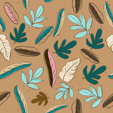 colores pastel: Textura transparente con colores pastel hojas. ilustración vectorial Vectores