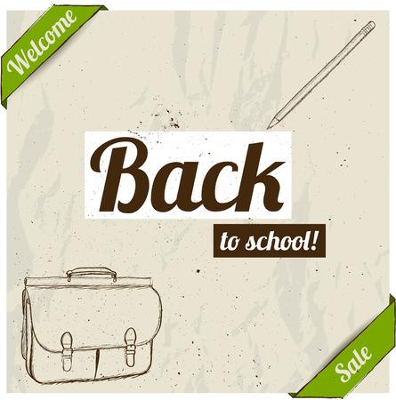 semester: Back to school poster. Vector illustration EPS8