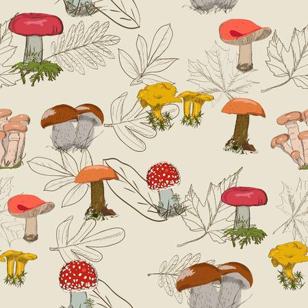 Seamless texture with autumn pattern