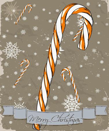 Christmas card. Illustration