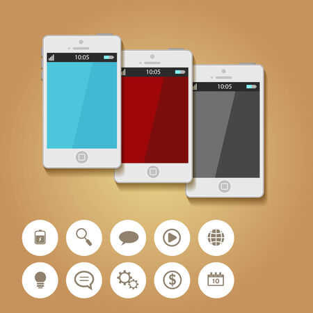 mobile app: Mobile App Flat Interface.  Illustration