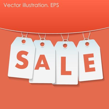 give away: Sale percents, illustration Illustration