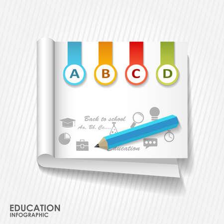 educaci�n en l�nea: Ilustraci�n plana educaci�n en l�nea