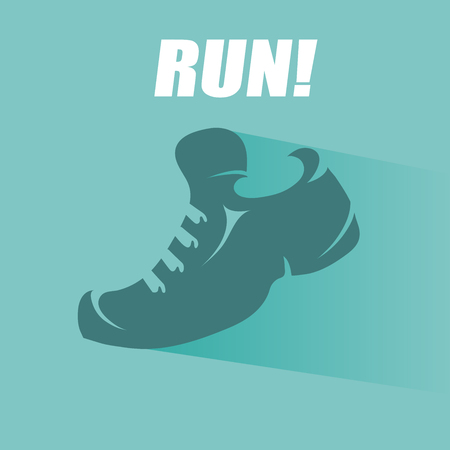 running shoe: Running shoe symbol - vector illustration