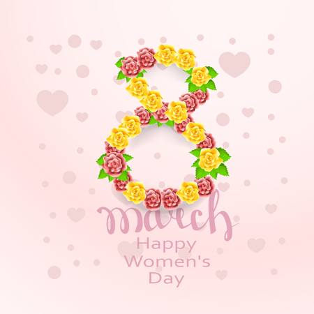 wallpaper International Women s Day: March 8 greeting card. Background vector template