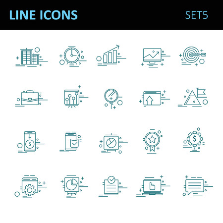 opportunity sign: Modern thin line icons set for business Illustration