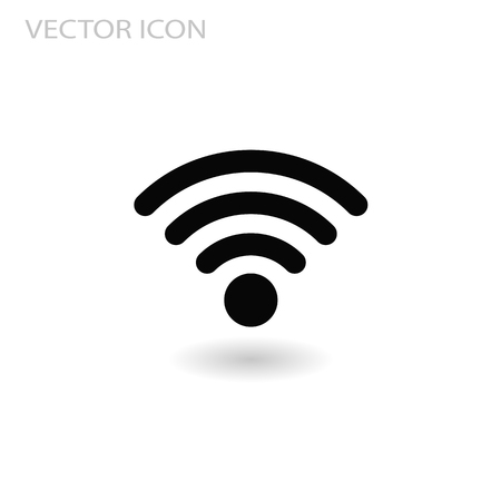 wi fi Network Symbol flat vector sign