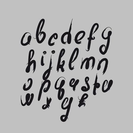 script writing: Vector handmade brush script, good lettering eps Illustration