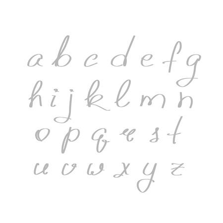 script: Vector handmade brush script, good lettering eps Illustration
