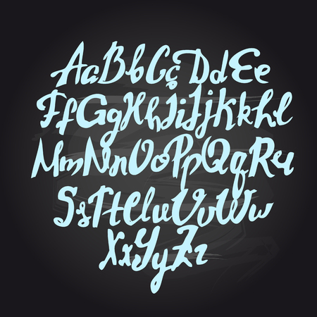 pila bautismal: Vector de escritura del cepillo hecho a mano, buenas letras eps
