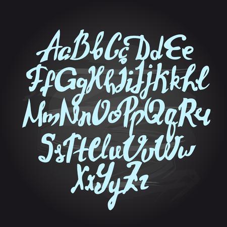 fonts: Vector handmade brush script, good lettering eps Illustration