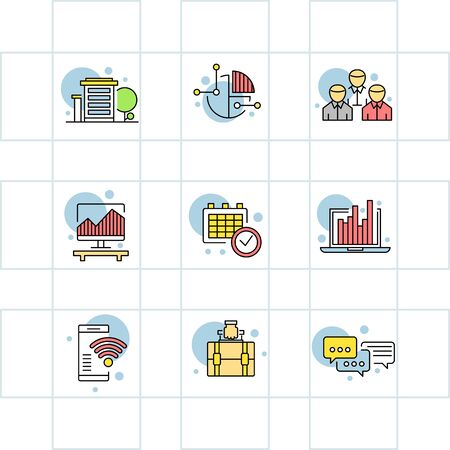 opportunity sign: Modern thin line icons set for business, infographic and different projects