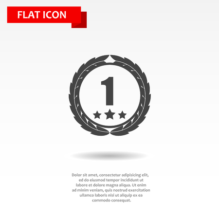 awards: flat award sign black simple icon