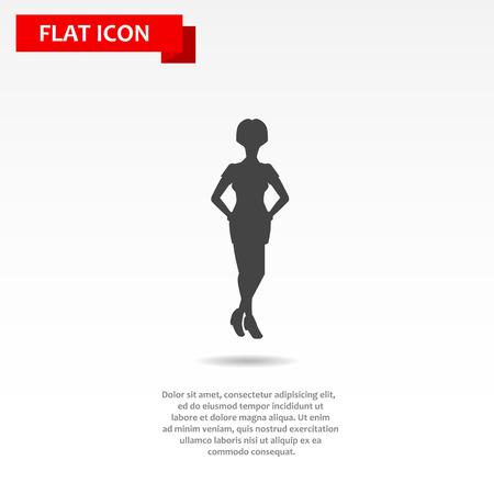 illustraton: Flat vector woman business illustraton