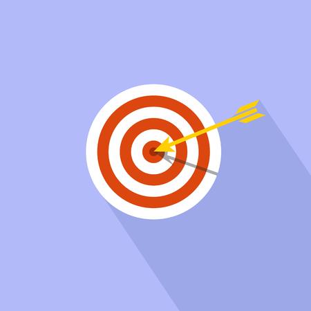 Target marketing icon. Target with arrow symbol. Illustration